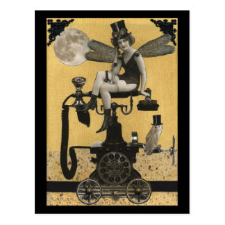 Steampunk ringer den felika vykortet vykort