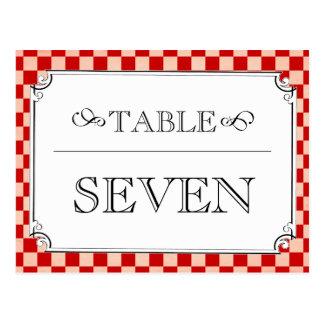 Steampunk schackbräde som gifta sig bordsnummer vykort
