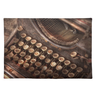 Steampunk - skrivmaskin - för tuckered för att bordstablett