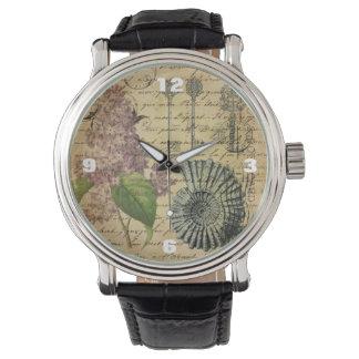 steampunk stämm den franska botaniska armbandsur