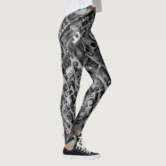 Steampunk svart leggings