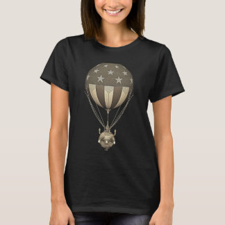 """Steampunk US """"stars och stripes ballong för T-shirt"""
