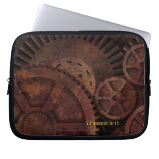 Steampunk utrustar industriellt maskineri laptop sleeve