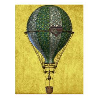 Steampunk Victorianballong Vykort