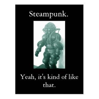 Steampunk. Yeah honom sort av något liknande det Vykort