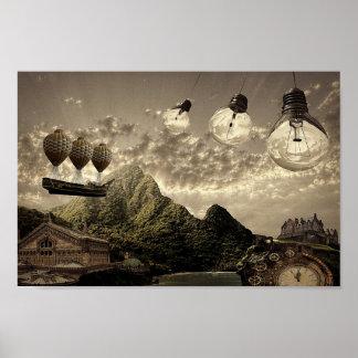 steampunkbygdaffisch poster