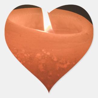 Stearinljus Hjärtformat Klistermärke