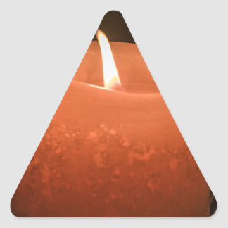 Stearinljus Triangelformat Klistermärke