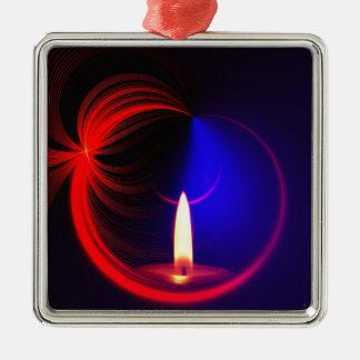 Stearinljuset avbildar mode julgransprydnad metall