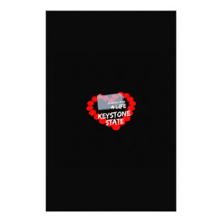 Stearinljushjärtadesign för det statligt av brevpapper