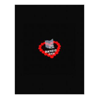 Stearinljushjärtadesign för det statligt av Ohio Brevhuvud