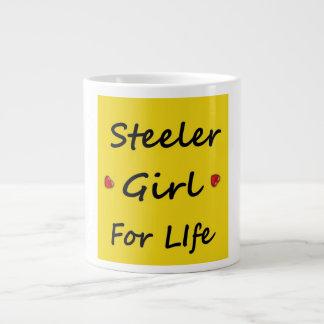 Steeler flicka för livmugg jumbo mugg