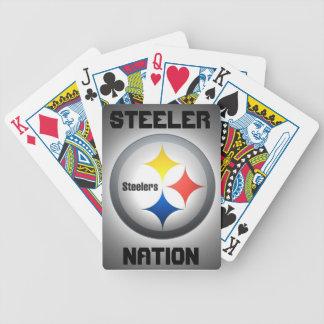 Steeler nation som leker kort spelkort
