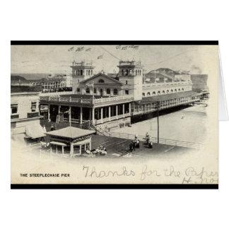 SteeplechasepirAtlantic City vintage 1904 Hälsningskort