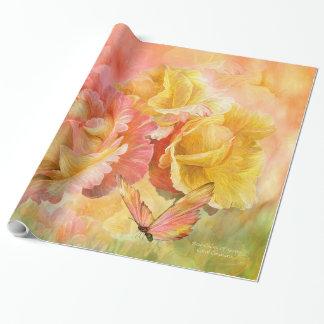 Steg - färger av sjalen för vårkonstgåvan presentpapper