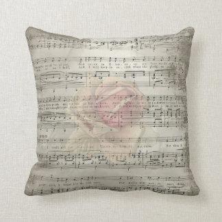 Steg romantisk minnesmusik för vintage kudde