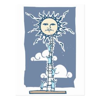 Stege till solen vykort