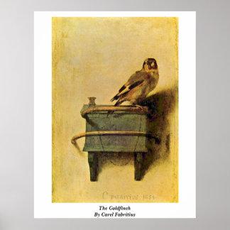 Steglitsen. Vid Carel Fabritius Poster