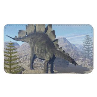 Stegosaurusdinosaur - 3D framför Mobil Fodral Ficka
