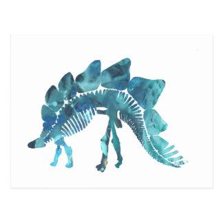 Stegosaurusskelett Vykort