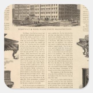 Steinway och Sons, piano Manufacutrers Fyrkantigt Klistermärke