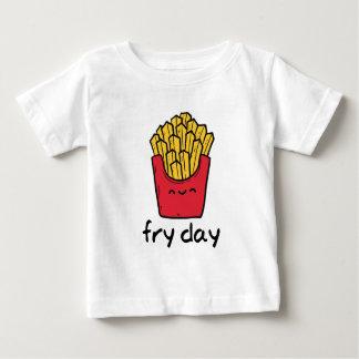 Steker lycklig fransk för den roliga vitsfredagen tee shirts