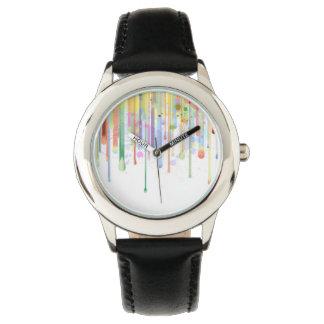 Stekflott målar abstrakt design armbandsur