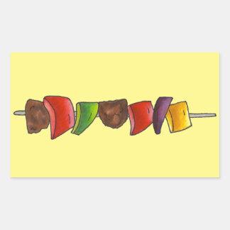 Steknål för Veggie för kött för kött- och Rektangulärt Klistermärke