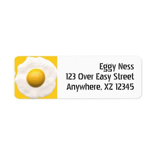 Stekt ägg returadress etikett