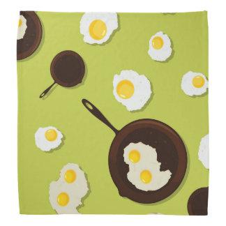 Stekt rolig matdesign för ägg scarf