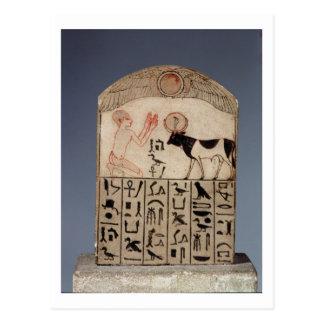 Stela till Apistjuren (målad limestone) Vykort