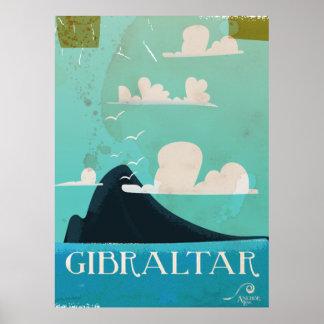Sten av den Gibraltar vintage resoraffischen Poster