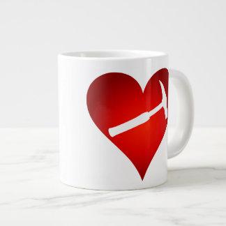 Sten bultar (vänsterhänt) hjärta, jumbo mugg