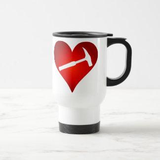 Sten bultar (vänsterhänt) hjärta, resemugg