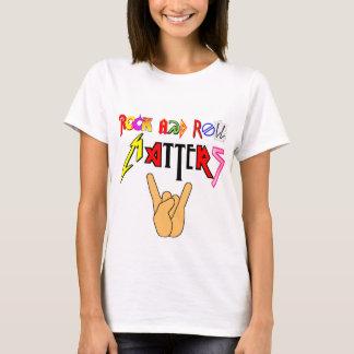 Sten - och - rulle betyder grundläggande kvinna t-shirts