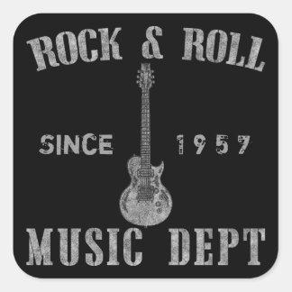 Sten - och - rullmusikavdelning fyrkantigt klistermärke