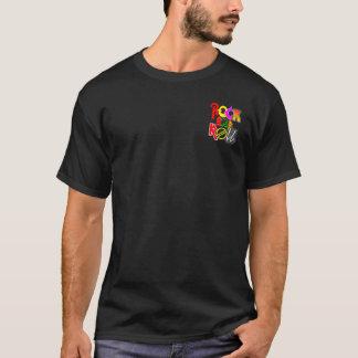 Sten - och - rullT-tröja beklär fick- och tillbaka T-shirt