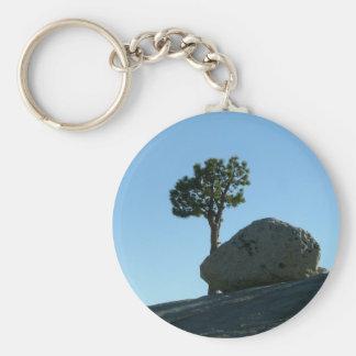 Sten och träd rund nyckelring