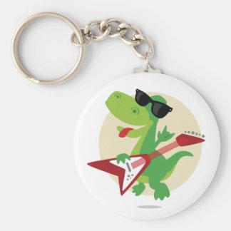 Sten på! Dinosaur Keychain Rund Nyckelring
