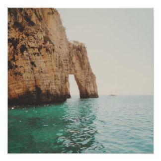 Sten på havet fotografiska tryck