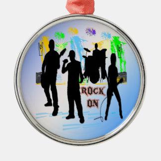 Sten på - vagga prydnaden för nrullmusikbandet julgransprydnad metall