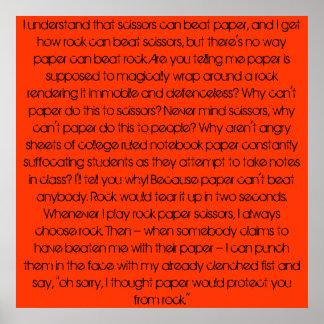 Sten papper, rock. poster