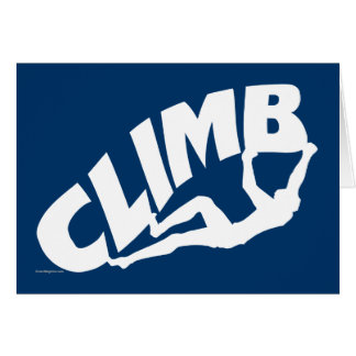 Sten som klättrar Bouldering Hälsningskort