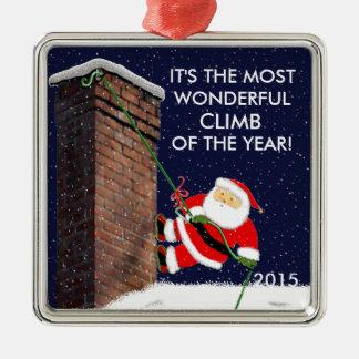 Sten som klättrar Santa Julgransprydnad Metall