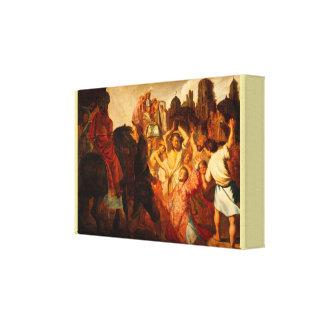 Stena av St Stephen av Rembrandt Van Rijn Canvastryck