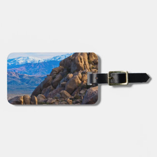 Stenblock och berg bagagebricka