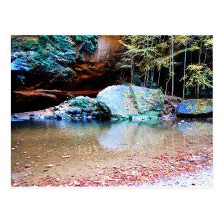 Stenblock på gamal man grotta vykort