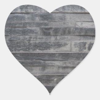 Stenen strukturerar hjärtformat klistermärke