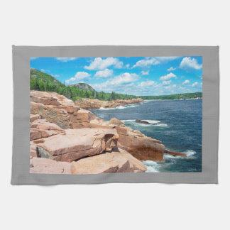 Stenig nationalpark Maine för Kökshanddukar