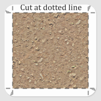 Stenig smuts 1 flytta sig mycket långsamt dekal fyrkantigt klistermärke